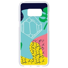 Behance Feelings Beauty Waves Blue Yellow Pink Green Leaf Samsung Galaxy S8 White Seamless Case by Mariart