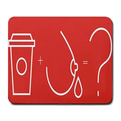 Caffeine And Breastfeeding Coffee Nursing Red Sign Large Mousepads by Mariart
