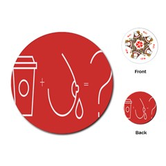 Caffeine And Breastfeeding Coffee Nursing Red Sign Playing Cards (round)  by Mariart