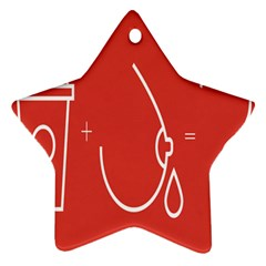 Caffeine And Breastfeeding Coffee Nursing Red Sign Star Ornament (two Sides) by Mariart