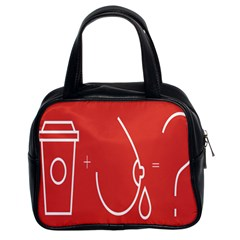 Caffeine And Breastfeeding Coffee Nursing Red Sign Classic Handbags (2 Sides) by Mariart
