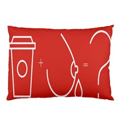 Caffeine And Breastfeeding Coffee Nursing Red Sign Pillow Case by Mariart