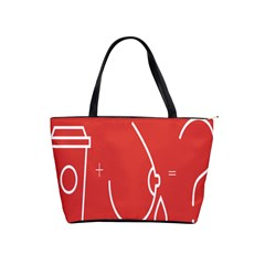 Caffeine And Breastfeeding Coffee Nursing Red Sign Shoulder Handbags by Mariart