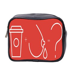Caffeine And Breastfeeding Coffee Nursing Red Sign Mini Toiletries Bag 2 Side by Mariart