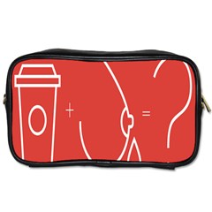 Caffeine And Breastfeeding Coffee Nursing Red Sign Toiletries Bags 2 Side by Mariart