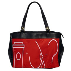 Caffeine And Breastfeeding Coffee Nursing Red Sign Office Handbags by Mariart