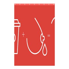 Caffeine And Breastfeeding Coffee Nursing Red Sign Shower Curtain 48  X 72  (small)  by Mariart