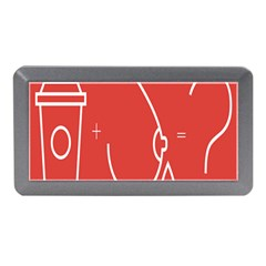 Caffeine And Breastfeeding Coffee Nursing Red Sign Memory Card Reader (mini) by Mariart