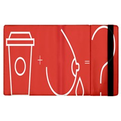 Caffeine And Breastfeeding Coffee Nursing Red Sign Apple Ipad 2 Flip Case by Mariart