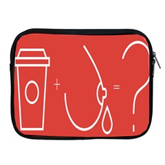 Caffeine And Breastfeeding Coffee Nursing Red Sign Apple Ipad 2/3/4 Zipper Cases by Mariart