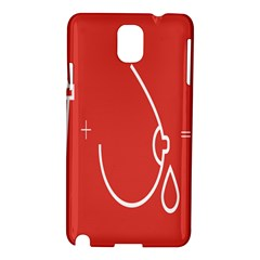 Caffeine And Breastfeeding Coffee Nursing Red Sign Samsung Galaxy Note 3 N9005 Hardshell Case by Mariart