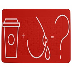 Caffeine And Breastfeeding Coffee Nursing Red Sign Jigsaw Puzzle Photo Stand (rectangular) by Mariart