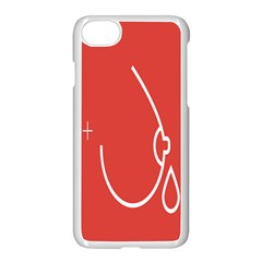 Caffeine And Breastfeeding Coffee Nursing Red Sign Apple Iphone 7 Seamless Case (white) by Mariart