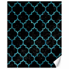 Tile1 Black Marble & Blue Green Water Canvas 16  X 20  by trendistuff