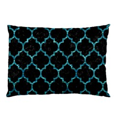 Tile1 Black Marble & Blue Green Water Pillow Case (two Sides) by trendistuff