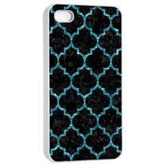 Tile1 Black Marble & Blue Green Water Apple Iphone 4/4s Seamless Case (white) by trendistuff