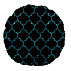 Tile1 Black Marble & Blue Green Water Large 18  Premium Round Cushion  by trendistuff