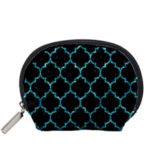 Tile1 Black Marble & Blue Green Water Accessory Pouch (small) by trendistuff