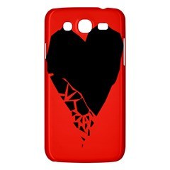 Broken Heart Tease Black Red Samsung Galaxy Mega 5 8 I9152 Hardshell Case  by Mariart
