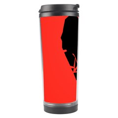 Broken Heart Tease Black Red Travel Tumbler by Mariart