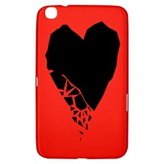 Broken Heart Tease Black Red Samsung Galaxy Tab 3 (8 ) T3100 Hardshell Case  by Mariart
