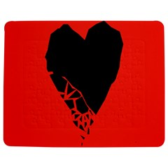 Broken Heart Tease Black Red Jigsaw Puzzle Photo Stand (rectangular) by Mariart