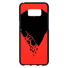 Broken Heart Tease Black Red Samsung Galaxy S8 Plus Black Seamless Case
