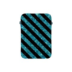 Stripes3 Black Marble & Blue Green Water (r) Apple Ipad Mini Protective Soft Case by trendistuff