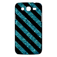 Stripes3 Black Marble & Blue Green Water (r) Samsung Galaxy Mega 5 8 I9152 Hardshell Case  by trendistuff