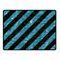Stripes3 Black Marble & Blue Green Water Fleece Blanket (small) by trendistuff
