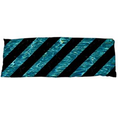 Stripes3 Black Marble & Blue Green Water Body Pillow Case (dakimakura) by trendistuff