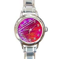 Zoom Colour Motion Blurred Zoom Background With Ray Of Light Hurtling Towards The Viewer Round Italian Charm Watch by Mariart