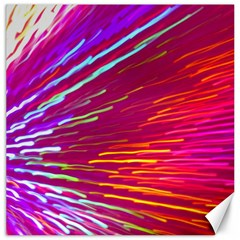 Zoom Colour Motion Blurred Zoom Background With Ray Of Light Hurtling Towards The Viewer Canvas 16  X 16