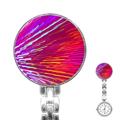 Zoom Colour Motion Blurred Zoom Background With Ray Of Light Hurtling Towards The Viewer Stainless Steel Nurses Watch