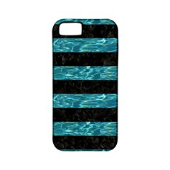 Stripes2 Black Marble & Blue Green Water Apple Iphone 5 Classic Hardshell Case (pc+silicone) by trendistuff