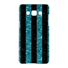 Stripes1 Black Marble & Blue Green Water Samsung Galaxy A5 Hardshell Case  by trendistuff