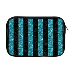 Stripes1 Black Marble & Blue Green Water Apple Macbook Pro 17  Zipper Case by trendistuff