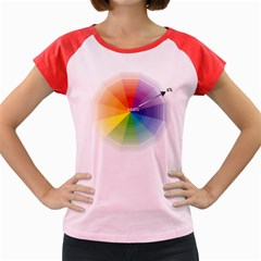 Colour Value Diagram Circle Round Women s Cap Sleeve T-shirt by Mariart