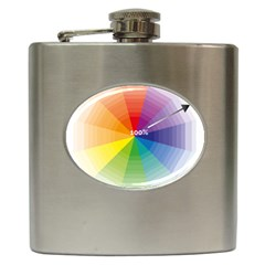 Colour Value Diagram Circle Round Hip Flask (6 Oz) by Mariart