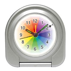 Colour Value Diagram Circle Round Travel Alarm Clocks by Mariart