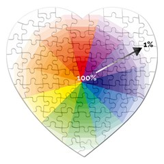 Colour Value Diagram Circle Round Jigsaw Puzzle (heart) by Mariart