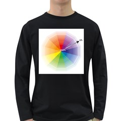 Colour Value Diagram Circle Round Long Sleeve Dark T Shirts