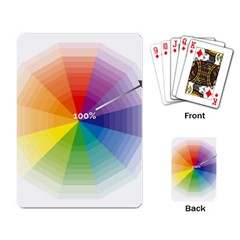 Colour Value Diagram Circle Round Playing Card by Mariart