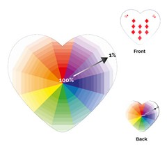 Colour Value Diagram Circle Round Playing Cards (heart)  by Mariart