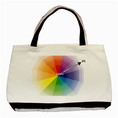 Colour Value Diagram Circle Round Basic Tote Bag (two Sides) by Mariart