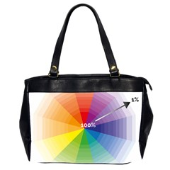 Colour Value Diagram Circle Round Office Handbags (2 Sides)  by Mariart