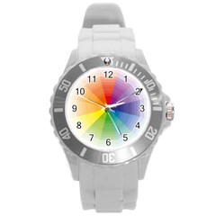 Colour Value Diagram Circle Round Round Plastic Sport Watch (l) by Mariart