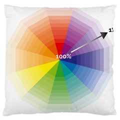 Colour Value Diagram Circle Round Large Cushion Case (one Side) by Mariart