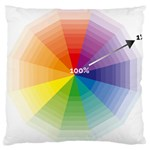 Colour Value Diagram Circle Round Large Cushion Case (One Side) Front