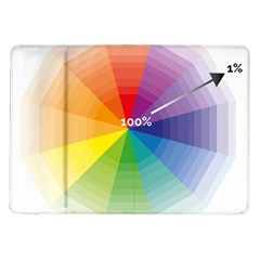 Colour Value Diagram Circle Round Samsung Galaxy Tab 10 1  P7500 Flip Case by Mariart